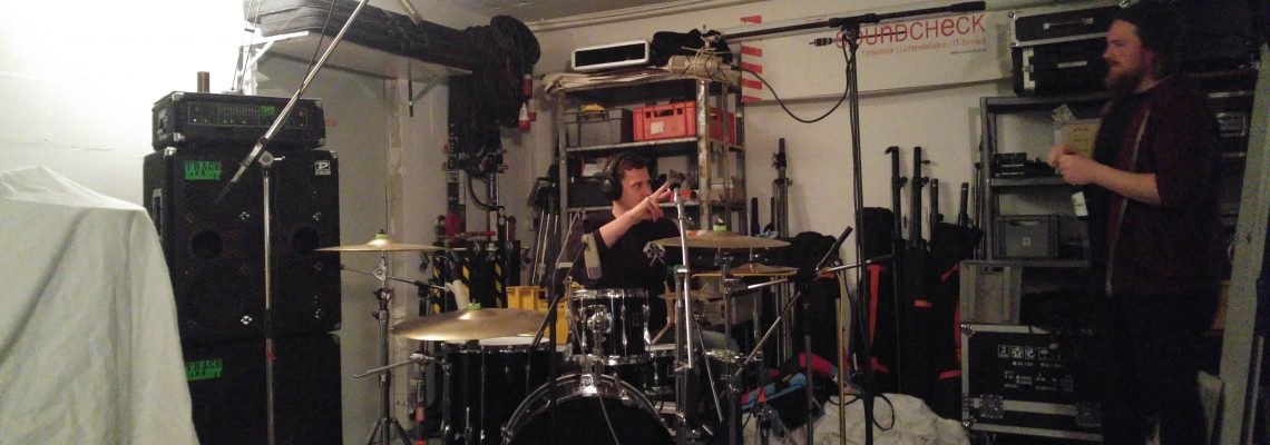 Drum Recording mit Trapped by light